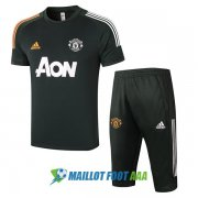 manchester united 2020-2021 entrainement kit vert fonce