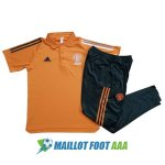 polo kit manchester united entrainement 2020-2021 orange