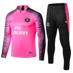 survetement paris saint germain 2018 2019 fermeture eclair rose noir