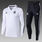survetement real madrid 2018-2019 v col noir blanc