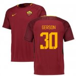 maillot as roma gerson 2017-2018 domicile