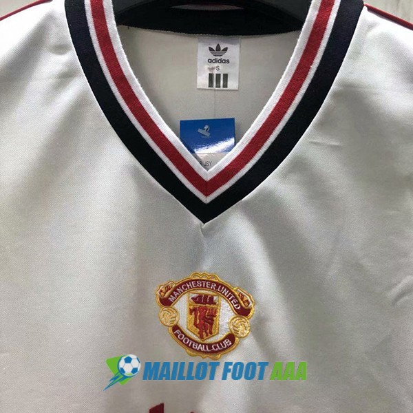maillot manchester united retro 1984-1986 exterieur
