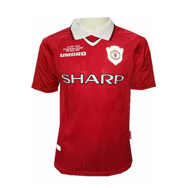 maillot manchester united retro champions league rouge 1999-2000
