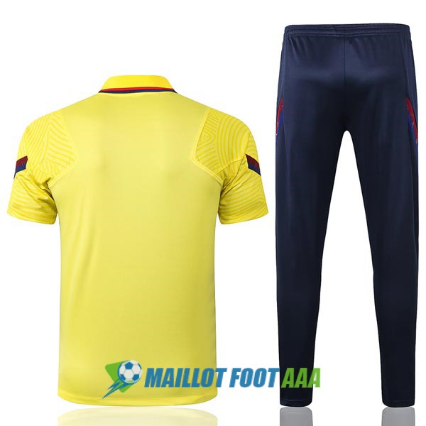 polo kit barcelone entrainement 2020-2021 jaune