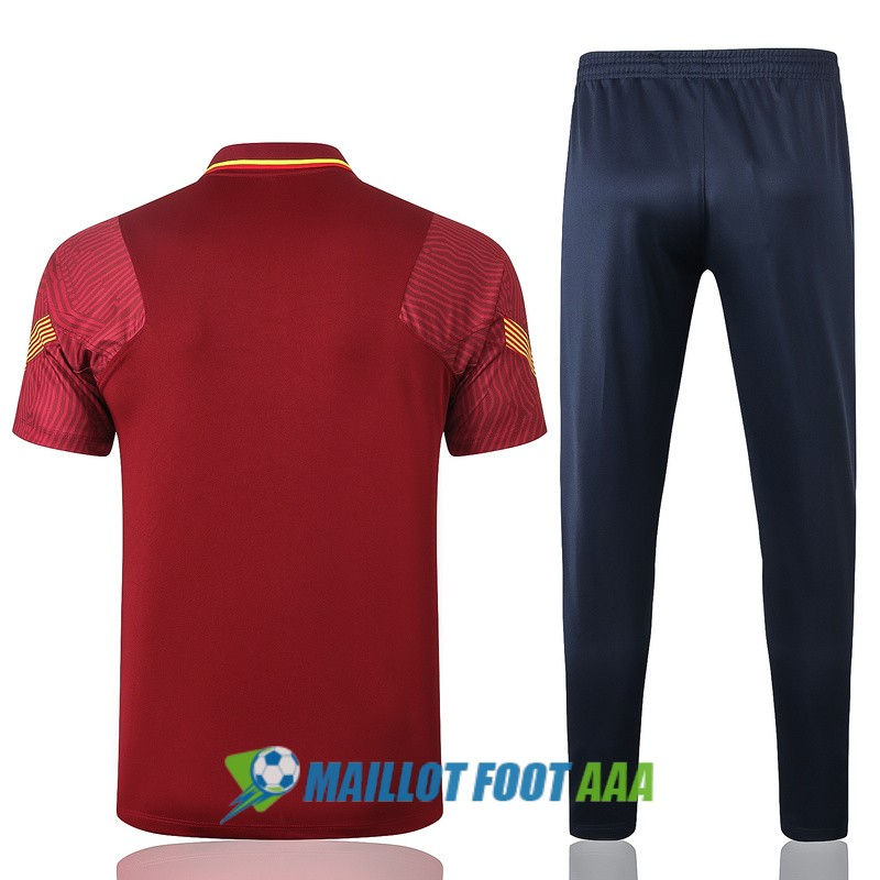 polo kit barcelone entrainement 2020-2021 rouge