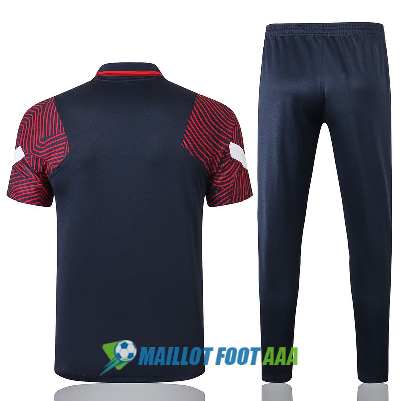 polo kit paris saint germain entrainement 2020-2021 bleu rouge
