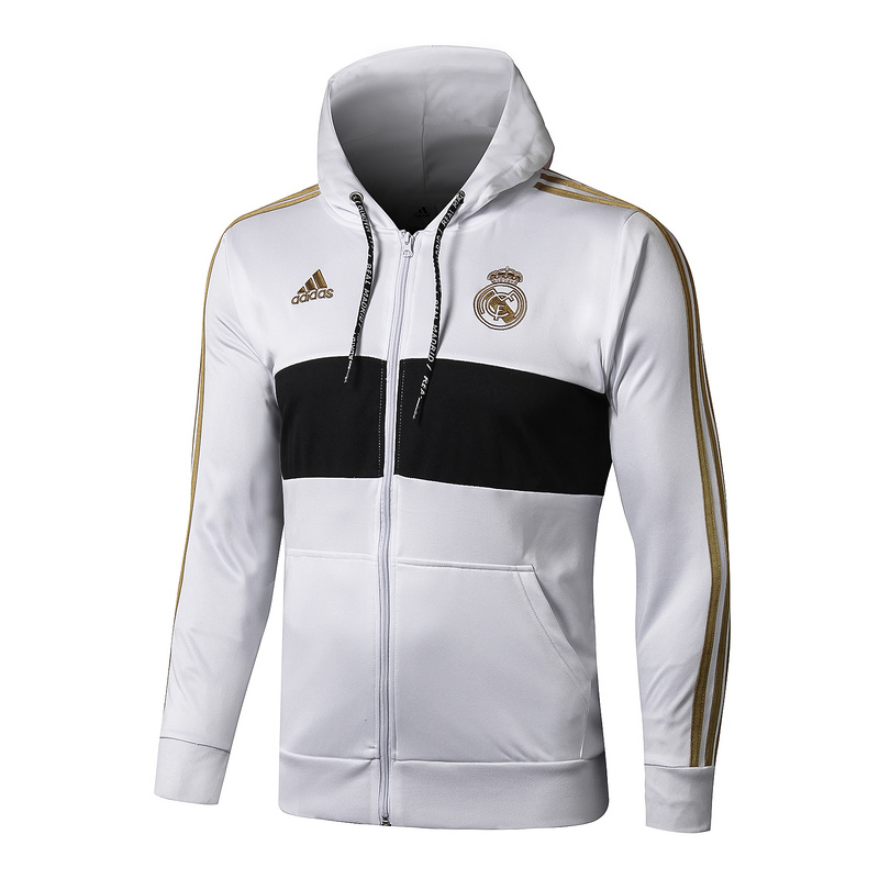 sweat a capuche real madrid 2019-2020 ensemble complet blanc